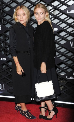 Lexus Design Disrupted Fashion Experience event held at SIR Stage 37 - Arrivals Featuring: Mary-Kate Olsen,Ashley Olsen Where: New York, United States When: 05 Sep 2013 Credit: TRY CW/WENN.com